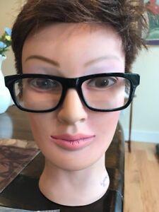 1.50 Style Guy Black Horn Readers Reading Glasses New
