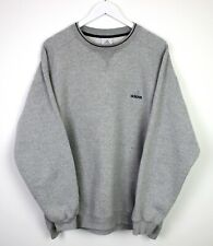 Adidas Vintage Retro 90s Style Crew Neck Grey Long Sleeve Sweater Pull Over - XL