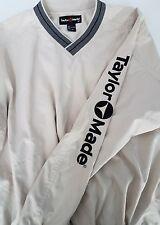 Men's Taylor Made Golf Pullover Sweater Big Logo Sleeve Size M vintage