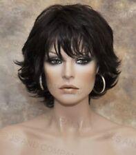 Wonderful EveryDay Short N Sassy full Wig w. layers bangs Dark Brown NLLx