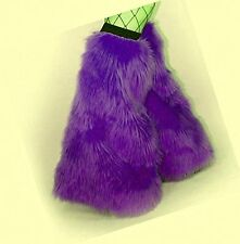Fluffy Furry Legwarmer Girls Teen Leg Warmers Dance Club Halloween Christmas