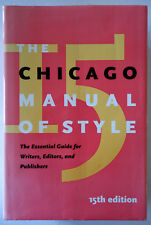 Chicago Manual of Style 15th Edition HC/DJ 2003