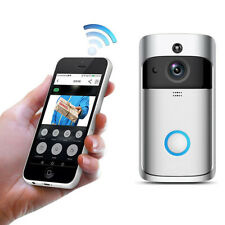 Wireless Wifi Video Audio Camera Door Bell Phone Intercom Doorbell SilverSC