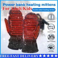 Full finger Electric Heated Gloves Mittens Touch Screen Waterproof Windproof