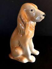 Vintage Royal Dux Porcelain BROWN WHITE SPANIEL DOG Czech w/Label