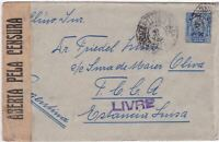 EARLY BRASIL CENSOR  STAMPS  COVER   1919 & WAX SEAL     R 2164