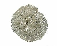 Split P Silver Beaded Flower Napkin Rings (Set/4)