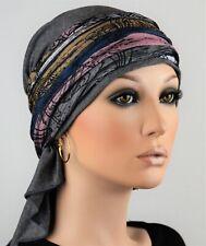 Kleidung & Accessoires Luxus Segeltuch Kopftuch Mit Schirm Mütze Chemo 100% Baumwolle Blau Weis Kariert Attraktive Mode