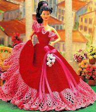 CROCHET PATTERN Barbie Fashion dolls clothes  Ballgown evening dress Bridal 517
