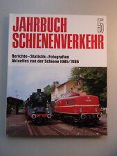 Jahrbuch Schienenverkehr 5 Bericht Statistik Fotografien Aktuelles 1985/86