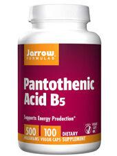 Jarrow Formula Pantothenic Acid B5 500 mg - 100 Veggie Caps - 2 Pack Exp. 08/21