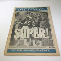 NY Daily News:01/28/91, Giants J.Elliot, S.Baker & D.Meggett Celeb 20-19 Victory