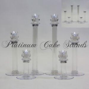 Cake Stand Glass Votive Candle Set 6 Tier (Style V134)