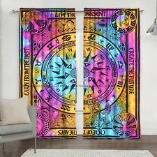 Cycle Of The Ages Mandala Indian Cotton Window Drapes Curtains Balcony Valances