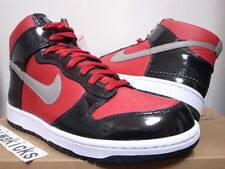 2009 NIKE DUNK HIGH PREMIUM DJ AM VARSITY RED GREY BLACK 323955-600 size 9.5