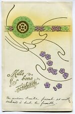 CPA - Carte Postale - Fantaisie - Mille Bons Souhaits - 1908 (M7844)