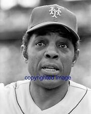 Willie Mays 1972-73 New York Mets HOF'er 1979  B+W 8x10 D