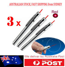 3x AU FastPostage New Powerful Light Pen Laser Pointer 1mW Red Light 650nm WHITE
