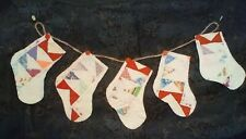 CUTTER QUILT STOCKING SWAG #60 *Great Gift Idea*