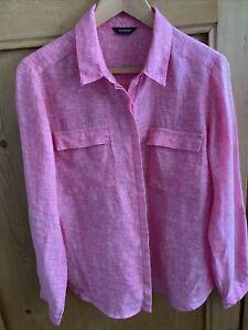 Autograph Linen Pink Fuschia Shirt Size 14