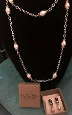 Honora Freshwater Pearl And Sterling Silver Necklace And Matching Earrings