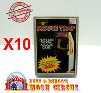10X COLECOVISION CIB GAME BOX - CLEAR PROTECTIVE BOX PROTECTORS SLEEVE CASE