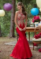 Mori Lee Prom Dress Size 8 Ruby Red, Mermaid Style, Immaculate Condition.
