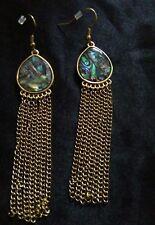 Fashion Gold Shell Effect Tassel Earrings