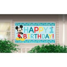 Party Supplies 1st Birthday Boys Mickey Mouse Fun To Be One Giant Banner