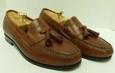 Cole Haan Mens Loafers Tassel Brown Leather Size 9.5W