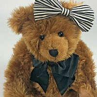 "17"" Knickerbocker Bear Cinnamon 75th Anniversary Jointed Teddy Plush Bag & Brush"