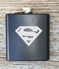 Superman Inspired Flask Great Groomsmen Best Man Usher Gift