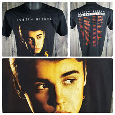 JUSTIN BIEBER | Believe 2013 Concert Tour S/S Shirt | Black | Men Size Medium M
