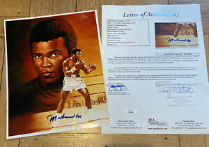 + Muhammad Ali Signed Auto Autograph 8x10 Color Print Cassius Clay HOF