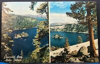 Vintage Postcard California Emerald Bay Lake Tahoe 1960s