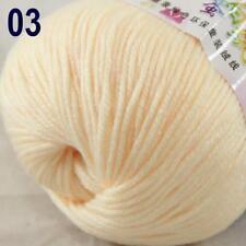 Sale New 1Ball x 50g Cashmere Silk Wool Hand Knit Wrap Shawls Crochet Yarn 03