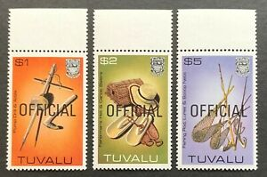 Tuvalu. Pictorial Handicrafts OFFICIAL Stamps. + Tabs O32/O34 1983. MNH. (J111)
