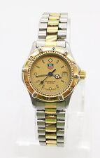 TAG HEUER 2000 Professional 964.008-2 Women's Quartz Date Watch Gold Dial