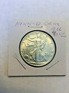 1944-D Gem BU Walking Liberty Half Dollar