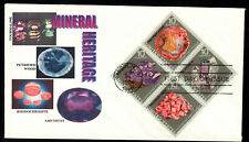 U.S. 1974 - MINERALS (Block of 4 on FDC) lot 5