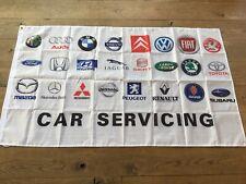 Garage workshop flag banner Car Servicing Renault Audi Honda VW BMW Ford