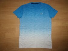 Hollister Blue & White 'fade style' mens T-shirt size Small