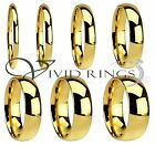 Men  Women Gold Plated Stainless Steel Wedding Band Ring Size 4 to 14.5