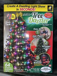 Telebrands Tree Dazzler Christmas Light String 64 Bulbs 16 Patterns by Bulbhead