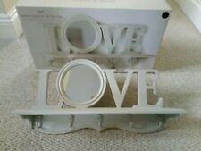*New* Shabby Chic 'Love' Letters Shelf With Mirror & Key/Jewellery Hooks By Next