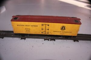 Scratchbuilt O Gauge Great Northern Western Fruit Express Reefer Boxcar