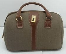 London Fog Carry On Tweed Travel OXFORD 7000 train makeup Luggage Bag 16x9x8