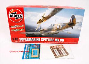 Airfix 1:48 Supermarine Spitfire Mk Vb #A05125 (OOP) PLUS Eduard landing flaps