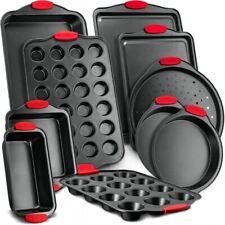 Nutrichef Kitchen Oven Baking Pans Nonstick Gray Coating Carbon Steel Bakeware