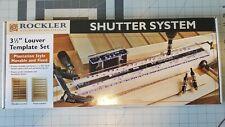 "Rockler Shutter System 3-1/2"" Louver Template Set Complete Plantation Shutters"